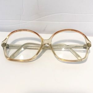 VTG 90's Plastic Large Frame Glasses